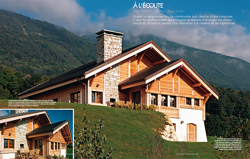 Maisons bois international 6 chalets remarquables for Chalet tardy