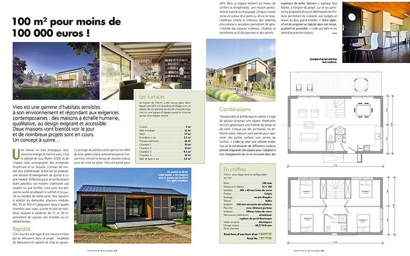 Maison bois 100 000 euros house 8 rooms 150sq m to for Construire une maison a 50000 euro